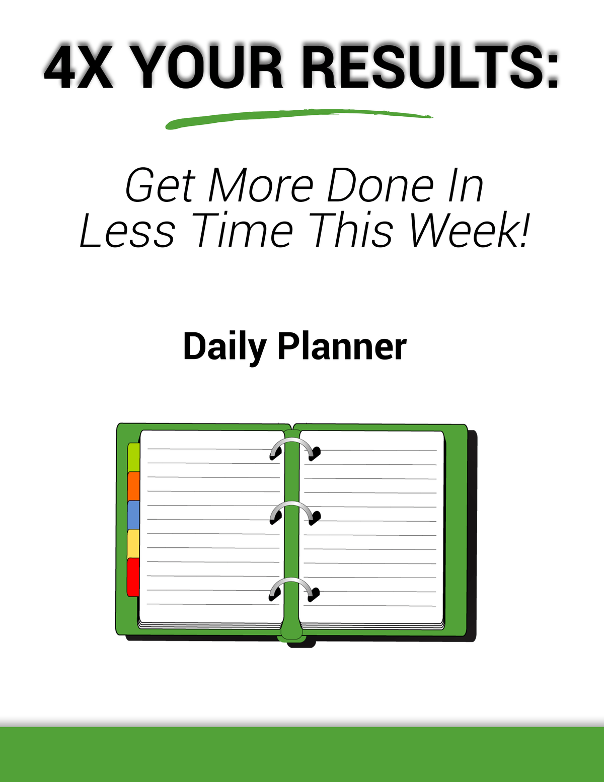 Daily More Done Daily Planner
